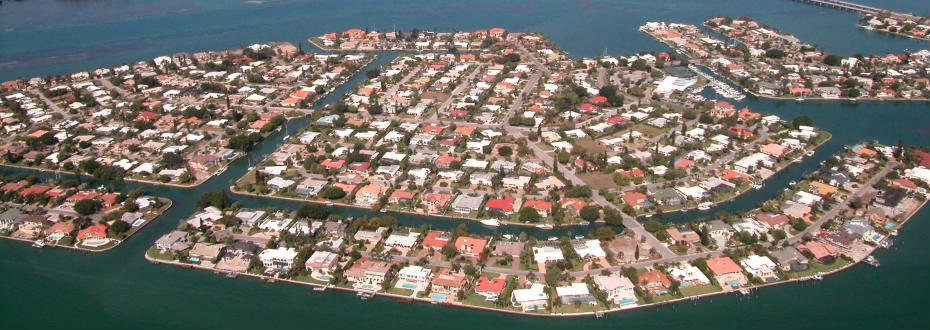 Aerial view of Bird Key
